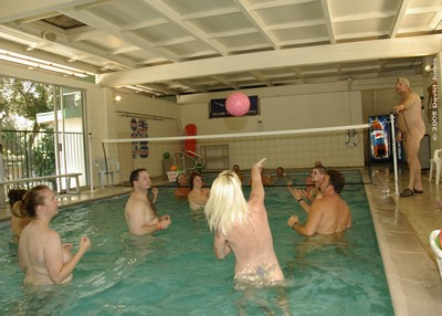 water volleyball nude