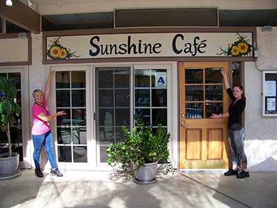 sunshine cafe glen eden